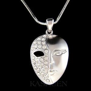 ~Phantom of the Opera Mask made with Swarovski Crystal Masquerade Drama Necklace