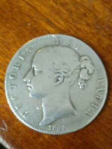 Young Victoria 1845 Sterling Silver Crown with Cinquefoil Edge Stops aao