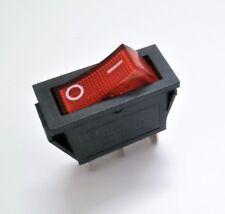 Interruptor Basculante Unipolar - Luminoso - 15A 250V - 20A 125V - Tecla Roja