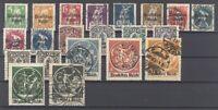 Dt. Reich Mi.Nr. 119-38, Freimarken 1920 gestempelt, geprüft Infla (28587)