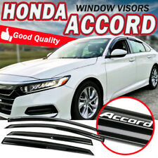 Fits 18-19 Honda Accord Sedan Window Visor Wind Guard Mugen Style W/ Sticker