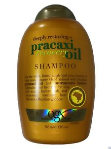 OGX Deeply Restoring + Pracaxi Recovery Oil Anti-Frizz Shampoo with 13 Ounce