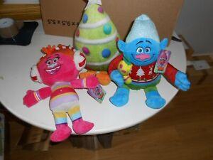 "TROLLS plush-- set of 3 ---12""---  christmas soft toy DreamWorks - NEW! JOB LOT"