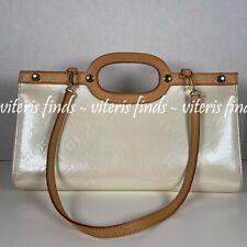Auhentic Louis Vuitton Roxbury Drive Perle Vernis Leather Shoulder Satchel Bag