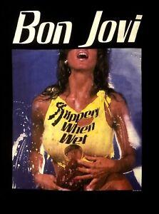 BON JOVI cd cvr SLIPPERY WHEN WET GIRL Official Black SHIRT Size LRG new