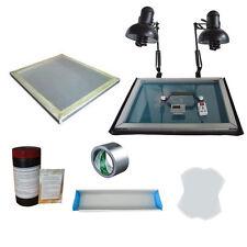 Screen Printing Plate Making Package -Simple Exposure Screen Frame Hand Tools