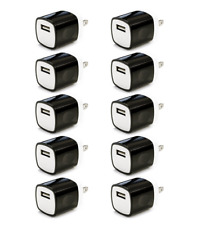 10x 1A Black USB Wall Charger Plug Home Power Adapter FOR iPhone 5 6 Samsung S8