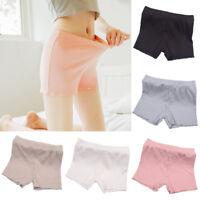 Women Ladies Elastic Striped Safety Pants Cotton Bottom Shorts Leggings Soft