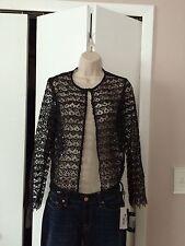 Women's Dressy Summer Black Lace Crochet Cardigan Nwt Retail $60.00