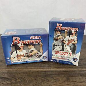 LOT OF 2 2021 Bowman Topps MLB Baseball Blaster Box Brand New Factory Sealed