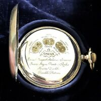 1900 Omega Pocket Watch, 15 rubies, Gold Medals