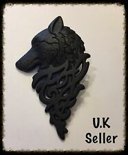 Wolf Badge Lapel Pin Brooch. Game Of Thrones Inspired. Free Gift Bag.