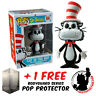 FUNKO POP DR SEUSS CAT IN THE HAT FLOCKED EXCLUSIVE + FREE POP PROTECTOR
