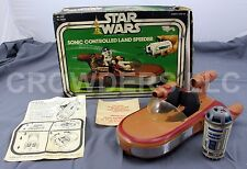 Vintage Star Wars Sonic Controlled Land Flitzer mit Fernbedienung & OVP Kenner