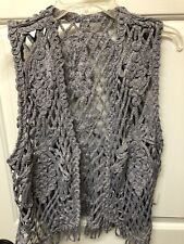 Dressy Crouched Vest Lg Silver. Dress Up Or Dress Down w Jeans!