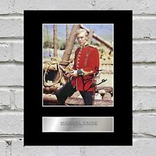 Michael Caine Signed Mounted Photo Display Zulu