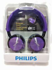 PHILIPS DJ HEADPHONES WITH ENHANCED SOUND SHL3000 PURPLE BRAND NEW FREE SHIPPING