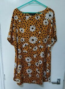 Capsule your ultimate wardrobe staples Orange Floral Tunic Top Size 16