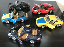Porsche 996 Turbo Yellow Blue Model (BURAGO & Maisto) Lot Collection 1:18 Scale