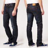 Nudie Herren Slim Straight Fit Bio Jeans Hose | Slim Jim Glacier Indigo |B-Ware