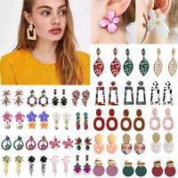 Fashion Women Flower Long Tassels Crystal Earrings Dangle Drop Bohemian Jewelry