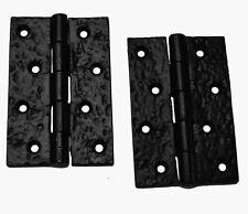 """Un par de 4"""" X 2-3/4"""" Trasero Bisagras en rústica negro de hierro fundido (JAB104)"""