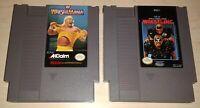 WWF Wrestlemania & WCW Wrestling original Nintendo NES 2 Game Cartridge Lot