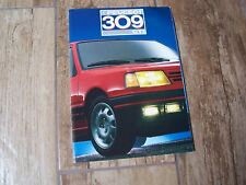 Catalogue / Brochure PEUGEOT 309 GTI 1987 //