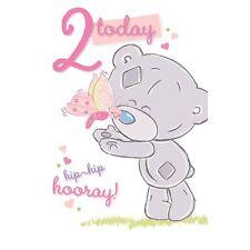 Me to You 2 Today 2nd Birthday Bday Card - Tiny Tatty Teddy Bear Cards
