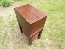 Shaw Walker Oak Antique Office Library Rolling File Cabinet 1900 1910s