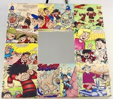 Sunday Funny Papers MIRROR Framed Colored Comics 10X10 inch Wall Grouping OOK