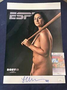 Lauren Chamberlain Oklahoma Sooners OU Softball Signed Autograph 13x19 Photo JSA