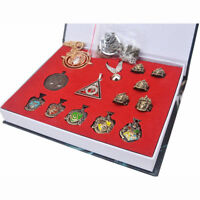 Fashion 14PCS Cosplay Decorate Rings Necklace for Harry Potter Fans + Gift Box