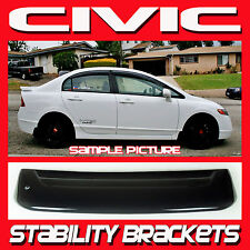 2006-2011 Honda Civic Sedan 4dr Rear Roof Window Visor Spoiler with Brackets FD