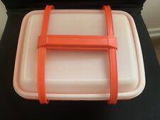 Vintage Tupperware Pack N Carry Lunch Box Tote Set w Handles 1254-10
