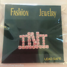 Lot of 3 TNT Pink Rhinestone PIN Fashion Jewelry NEW In Package You get 3 Pins