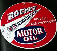 Rocket Gas Oil gasoline sign