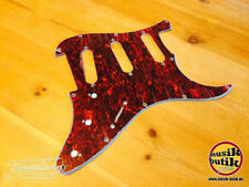 Electric Guitar Pickguard for Strat Replacement Red Tortoise Shell SSS 3Ply