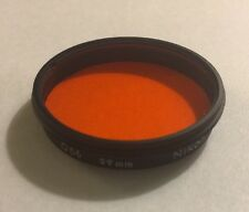 Used Nikon O56 Orange 39mm Lens Filter Made in Japan