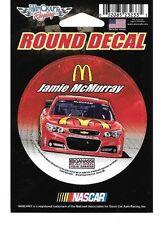 "JAMIE MCMURRAY #1 MCDONALD'S 2015 CAR WINCRAFT 3"" ROUND DECAL STICKER"