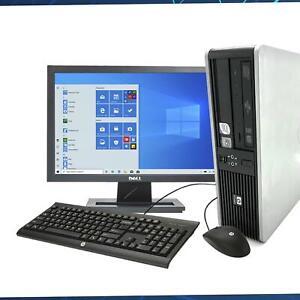 HP DC Series Desktop PC Computer QUAD CORE 8 GB 2TB HDD SSD Win 10 WIFI