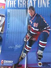 WAYNE GRETZKY poster NHL 1996 1997 SCHEDULE