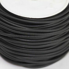 5 Yards Black Rubber Rope Cord Fit Making Charm Necklace Bracelets Jewelry 2mm