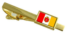 Odessa City Ukraine Flag Gold Tie Clip Engraved Personalised