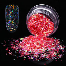 Red Irregular Glitter Nail Flakes Sequins Paillette Shell Paper Manicure Tips