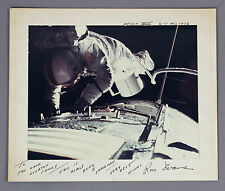 RONALD EVANS | apollo XVII 17 astronaut | SIGNED photograph + cool inscription