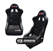 STR 'Roma' FIA Approved 2025 Race/Rally/Bucket Seat Oval/Autograss BLACK
