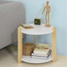 SoBuy® FBT63-WN,Tavolino basso da divano, Tavolino da caffè, rotondo,Bianco,IT