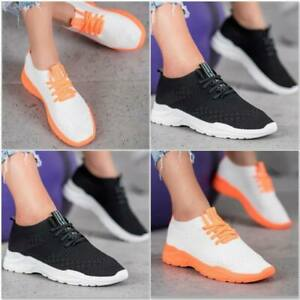 WOMENS LADIES SLIP ON SPORT TRAINERS SPORT SNEAKERS GYM SHOES SIZE NEW COMFORT