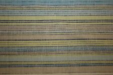 Stripe Linen Rayon Blend Print #6 Natural Flax Fiber Medium Weight Fabric BTY